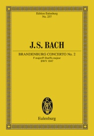 Bach: Brandenburg Concerto No. 2 F major BWV 1047 (Study Score) published by Eulenberg